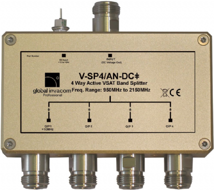VSAT 4 Way Active Splitter